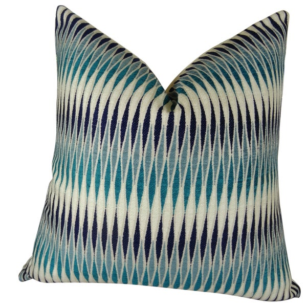 Plutus Thames River Cobalt Handmade Throw Pillow