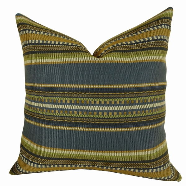 Plutus Chic Stripe Indigo Handmade Pillow