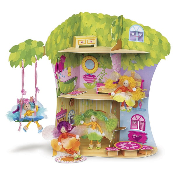 4M Make Your Own Dolls Fairyland Playset and Craft Kit
