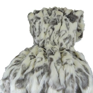 Plutus Ivory Rabbit Faux Fur Handmade Blanket