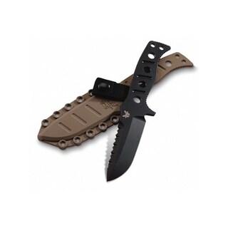 Benchmade 375 Adamas Fixed Blade Knife (4.20-Inch Black Plain) - 375BKSN