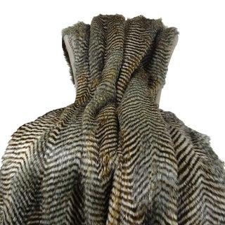 Plutus Grey Fox Handmade Throw Blanket