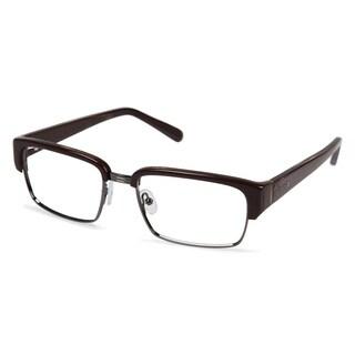 Cynthia Rowley Eyewear CR6004 No. 68 Brown Wood Rectangle Metal Eyeglasses