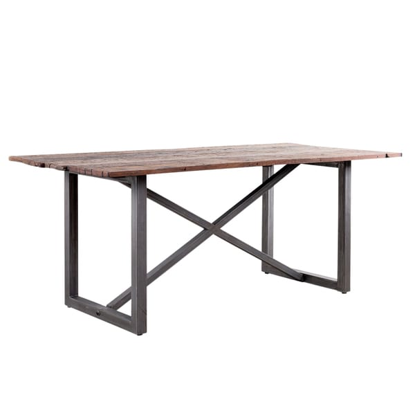 X Base Salvaged Wood Dining Table (India)