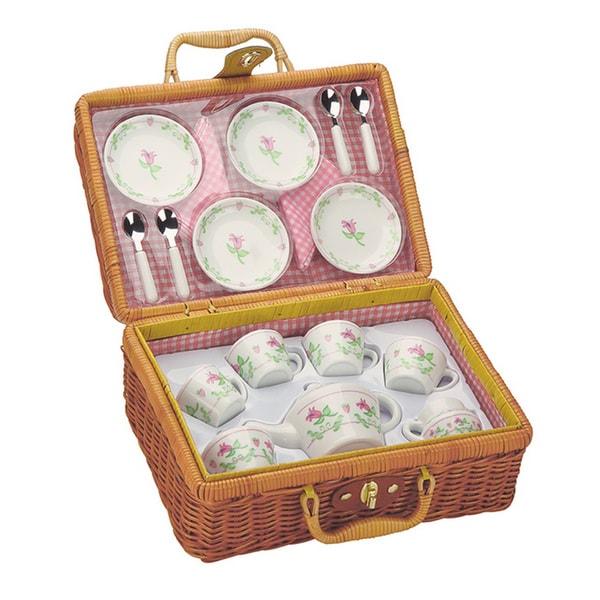 Toysmith Deluxe Porcelain 21-piece Tea Set 17311633
