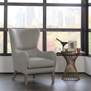 Madison Park Leda Grey Swoop Wing Chair