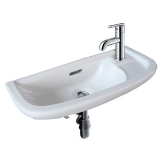 Fine Fixtures White 20-inch Wall-mounted Sink