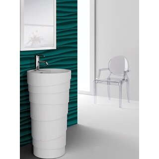 Fine Fixtures Rockview White Pedestal Sink