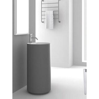 Fine Fixtures Crestview Grey Pedestal Sink
