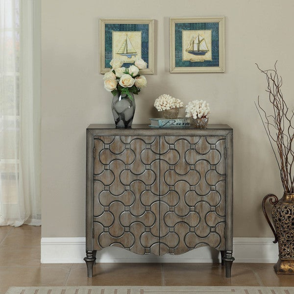 Somette Silver Metallic 2-Door Cabinet