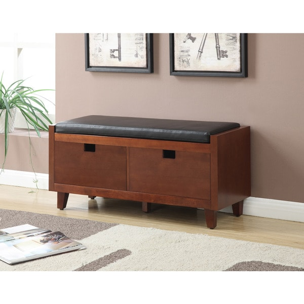 Convenience Concepts Designs4Comfort Baron Hallway Storage Bench