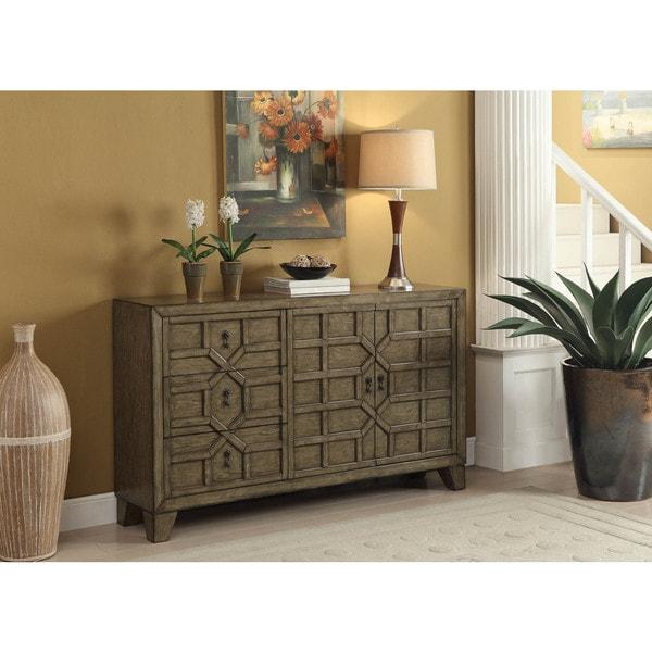 Somette Brown 3-drawer Credenza