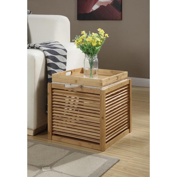 Convenience Concepts Designs4Comfort Bamboo Ottoman