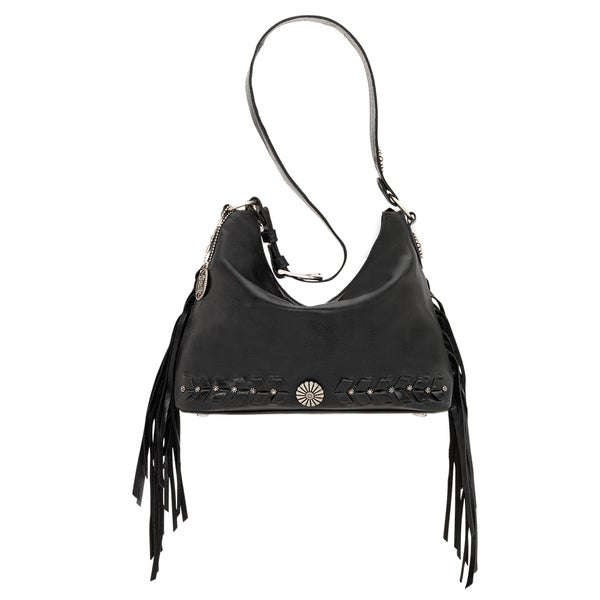 American West River Ranch Collection Soft Black Shoulder Bag