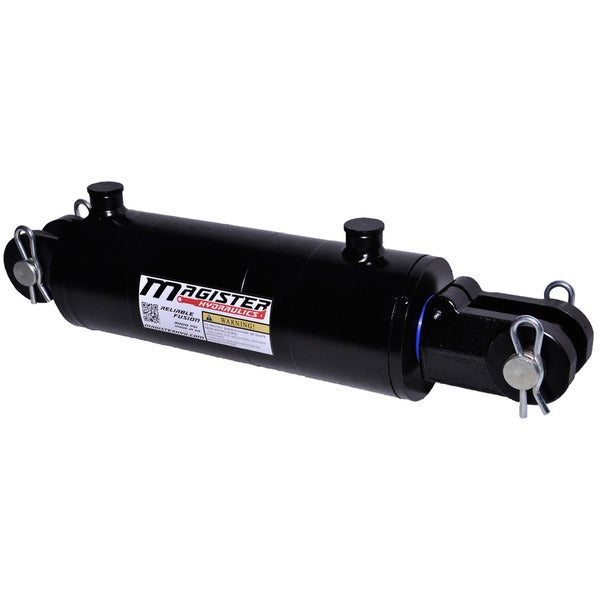 Welded Double Acting Hydraulic Cylinder Clevis 4-inch Bore 14-inch Stroke