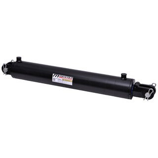 Welded Double Acting Hydraulic Cylinder Clevis 4-inch Bore 18-inch Stroke