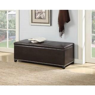 Convenience Concepts Designs4Comfort Parker Ottoman with Shoe Storage