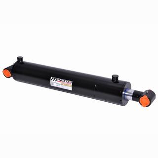 Welded Double Acting Hydraulic Cylinder Cross Tube 3-inch Bore 24-inch Stroke