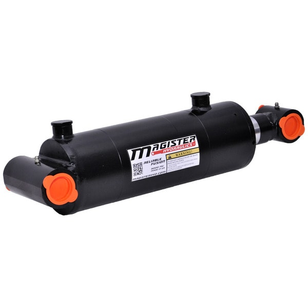 Welded Double Acting Hydraulic Cylinder Cross Tube 3-inch Bore 8-inch Stroke