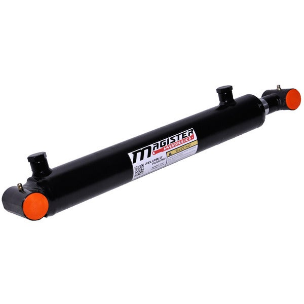 Welded Double Acting Hydraulic Cylinder Cross Tube 2-inch Bore 24-inch Stroke