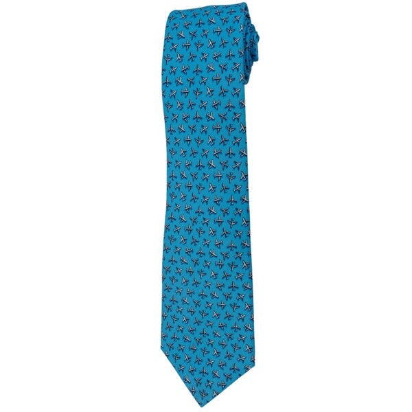 Davidoff 100-percent Silk Baby Blue Plane Neck Tie