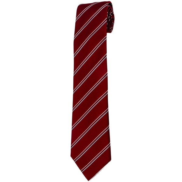 Davidoff 100-percent Silk Burgundy Stripe Neck Tie