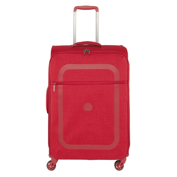 Delsey Dauphine Red 23-inch Spinner Upright Suitcase