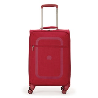 Delsey Dauphine Red 19-inch Carry-on Spinner Upright Suitcase