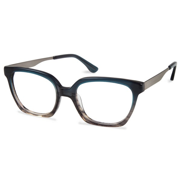 Cynthia Rowley Eyewear CR5024 No. 65 Teal Fade Round Metal Eyeglasses