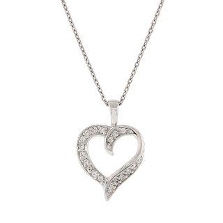 Pori Sterling Silver Cubic Zirconia Heart Pendant Necklace