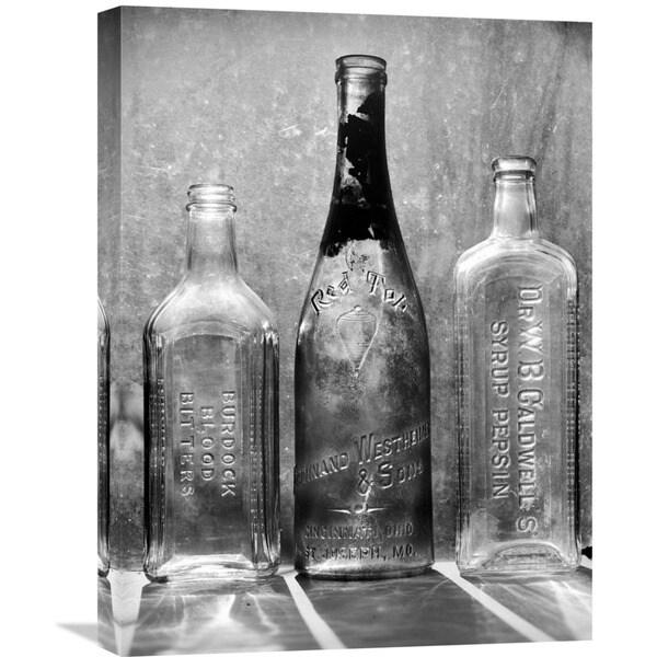 Big Canvas Co. Gordon Osmundson 'Three Vintage Bottles I' Stretched Canvas Artwork