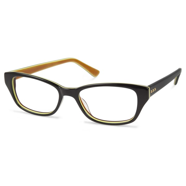 Cynthia Rowley Eyewear CR5019 No. 91 Black Round Plastic Eyeglasses