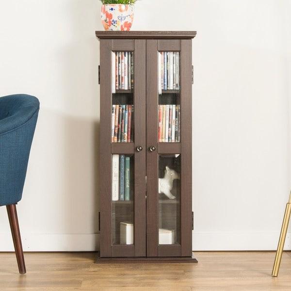 41-inch Espresso Wood Media Tower Cabinet 17312324