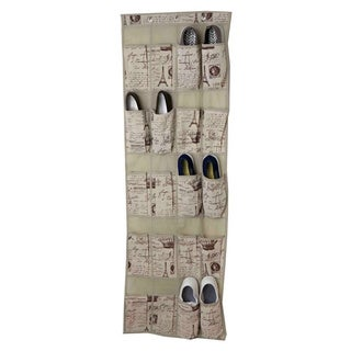 The Paris Collection By Home Basics 20 Pocket Over the Door Shoe Organizer