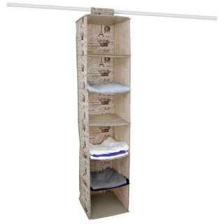 The Paris Collection By Home Basics 6-Shelf Hanging Storage Organizer