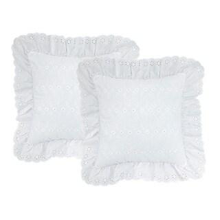 White Eyelet Pillows (Set of 2)