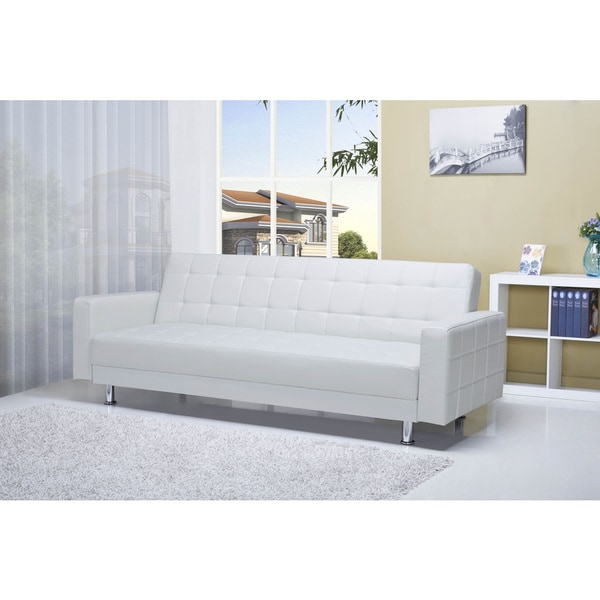 Frankfort White Convertible Sofa Bed