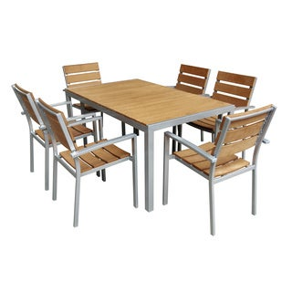 Faux Wood 7-piece Dinning Set