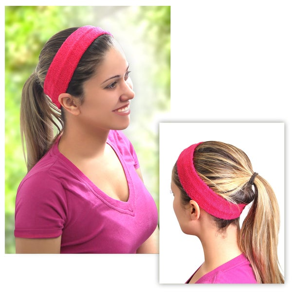 Zodaca Women Fashion Yoga Sports Elastic Cotton Hair Band Headband in Assorted Colors