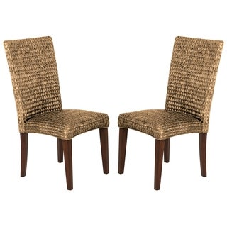 Montgomery Rattan Woven Natural Dining Chairs (Set of 2)