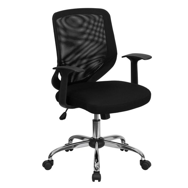 Crant Black Swivel Adjustable Office Chair with Mesh Padded Seat