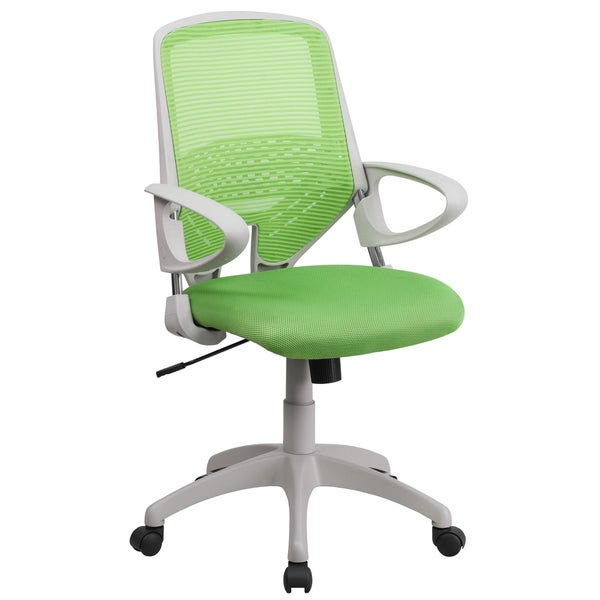 Zab Green Mesh Adjustable Swivel Office Chair