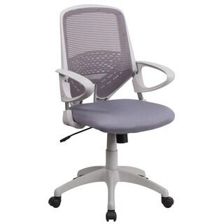 Zab Grey Mesh Adjustable Swivel Office Chair