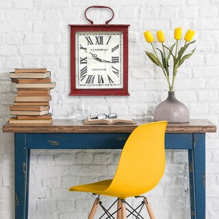 Stratton Home Decor Vintage Red Wall Clock
