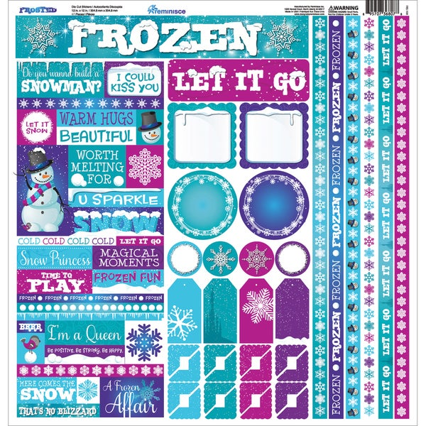 Frosted Cardstock Multi Stickers 12inX12in