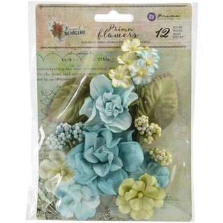 Royal Menagerie Mulberry Paper Flowers Diana 1.4in, 12/Pkg
