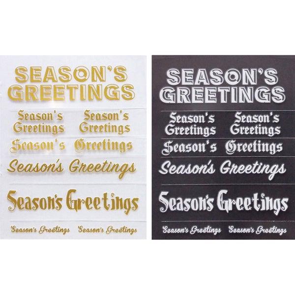Little B Rub Ons 2/Pkg Season's Greetings