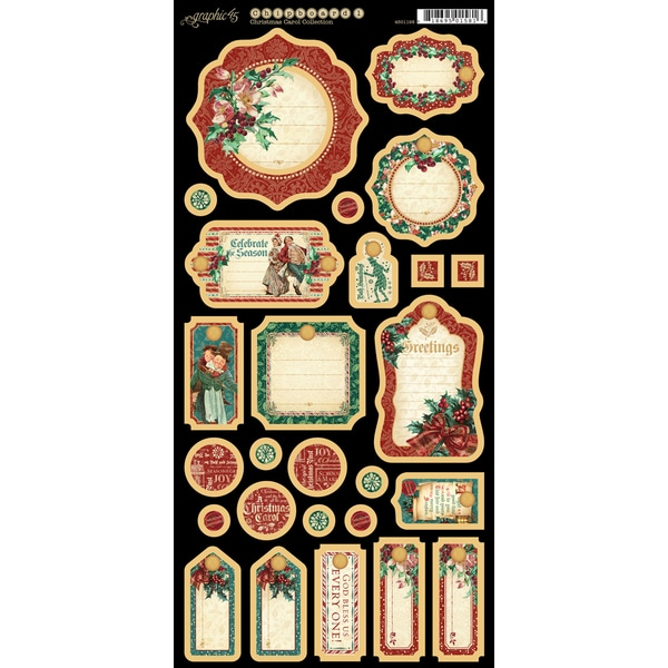 A Christmas Carol Chipboard Die Cuts 6inX12in Sheet Journaling