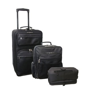 Amerileather Black 3-piece Luggage Set