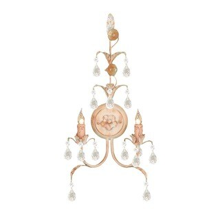Crystorama Athena Collection 2-light Champagne Wall Sconce